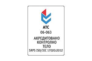 Akreditovano kontrolno telo IEC 17020