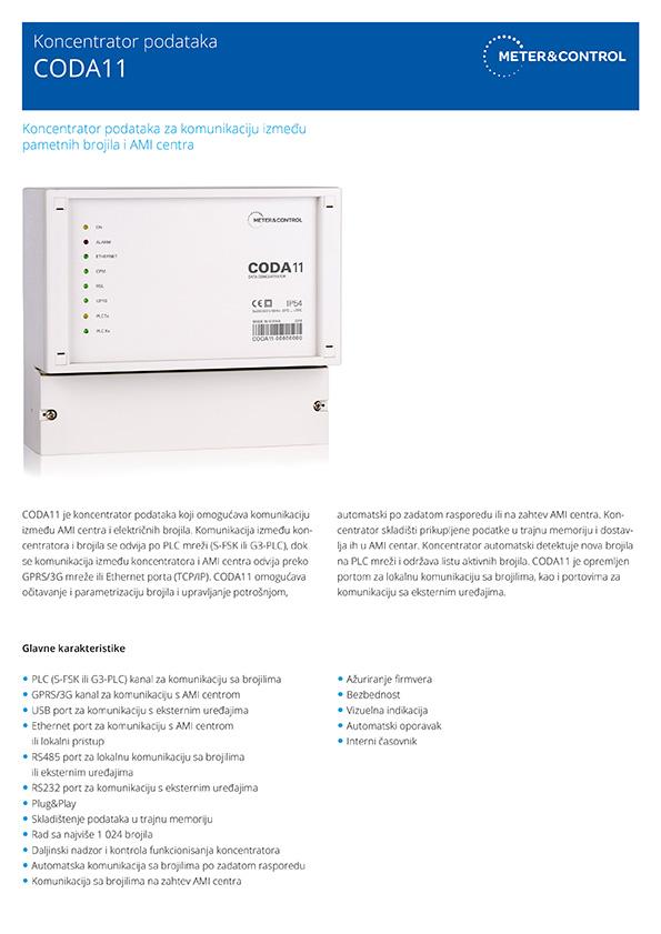 CODA11 koncentrator podataka