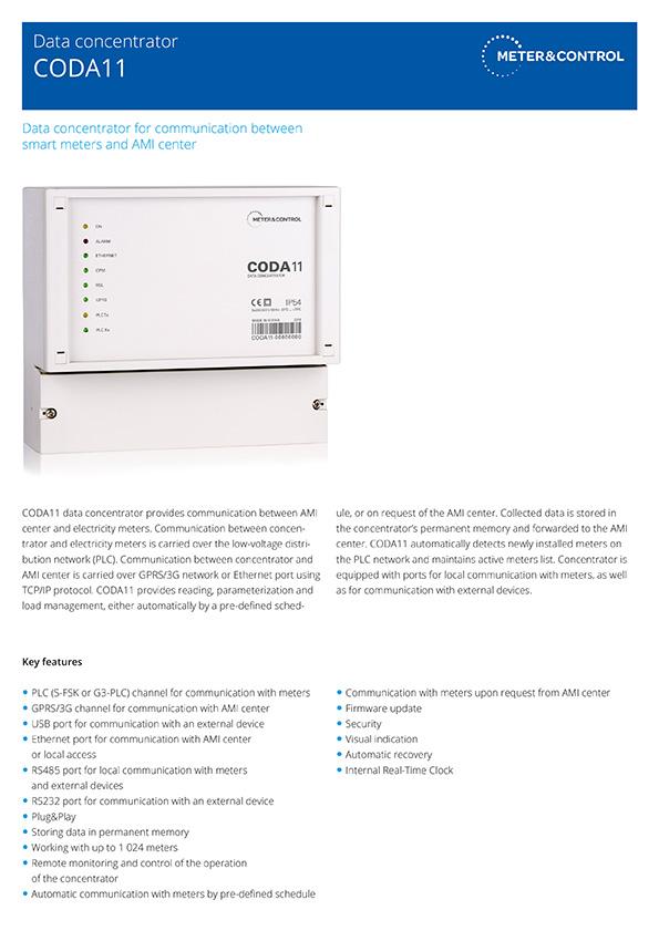 CODA11 data concentrator