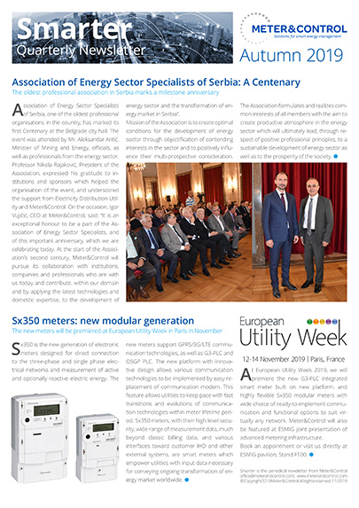 Meter&Control Newsletter autumn 2019